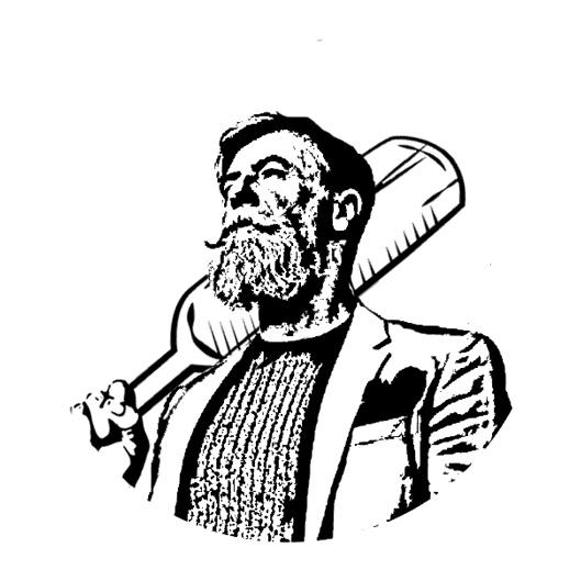 Дед с веслом